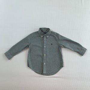 Ralph Lauren Green Check Dress Shirt 3T